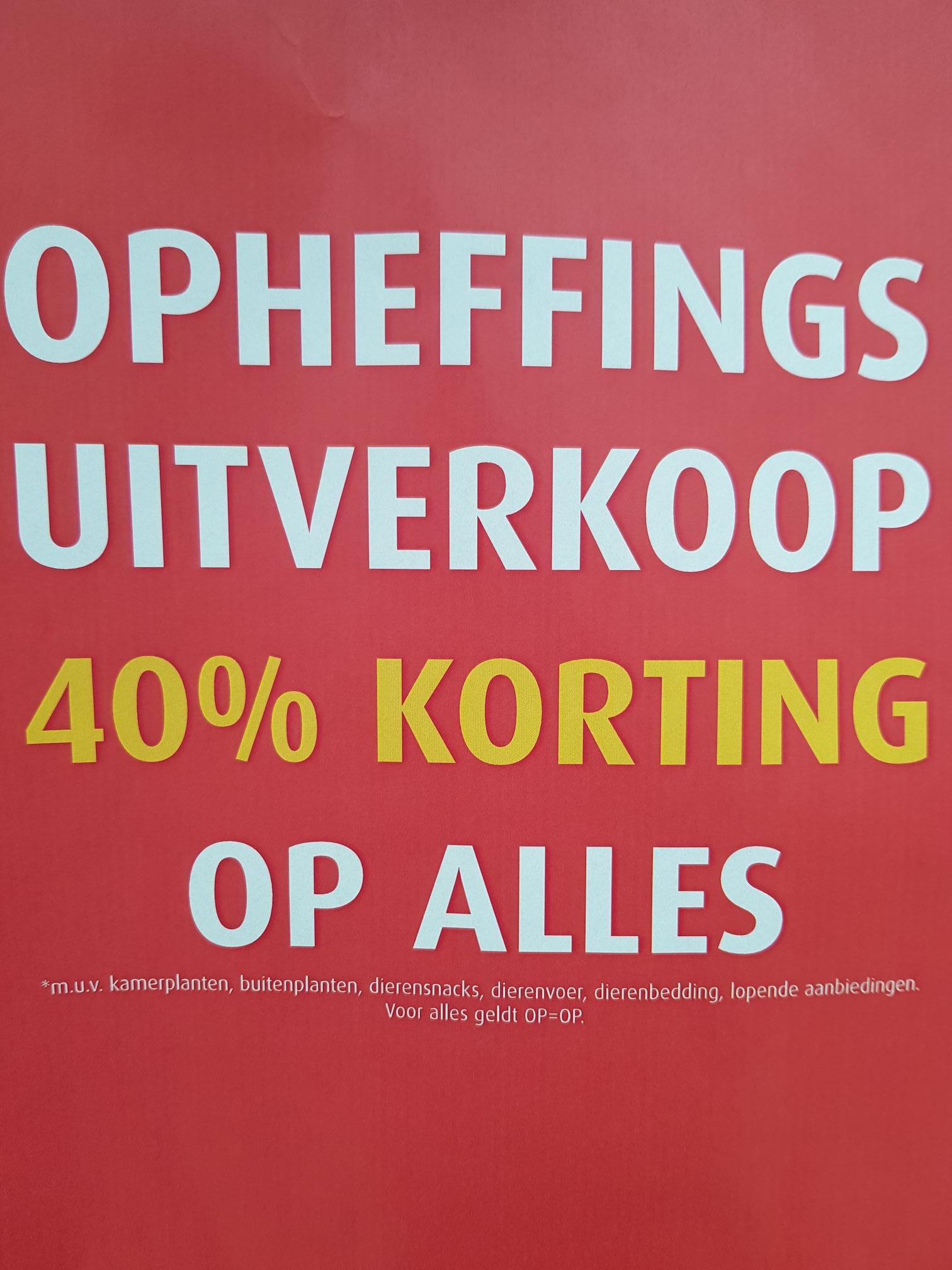 Opheffings uitverkoop tuincentrum Overvecht (lokale aanbieding)