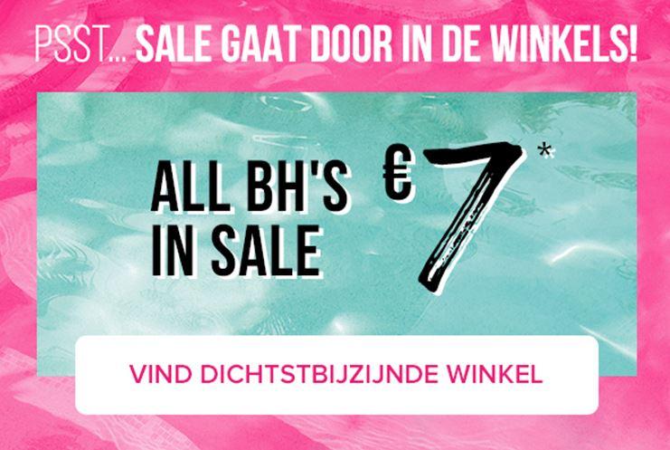 SALE: alle bh's €7 p.s. (instore) @ Hunkemöller