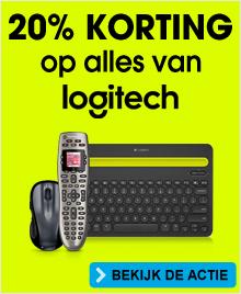 20% korting op alle producten van het merk Logitech @ Bobshop