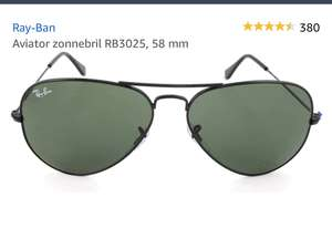 RAY-BAN Aviator RB3025 (58mm) zonnebrillen @Amazon.de