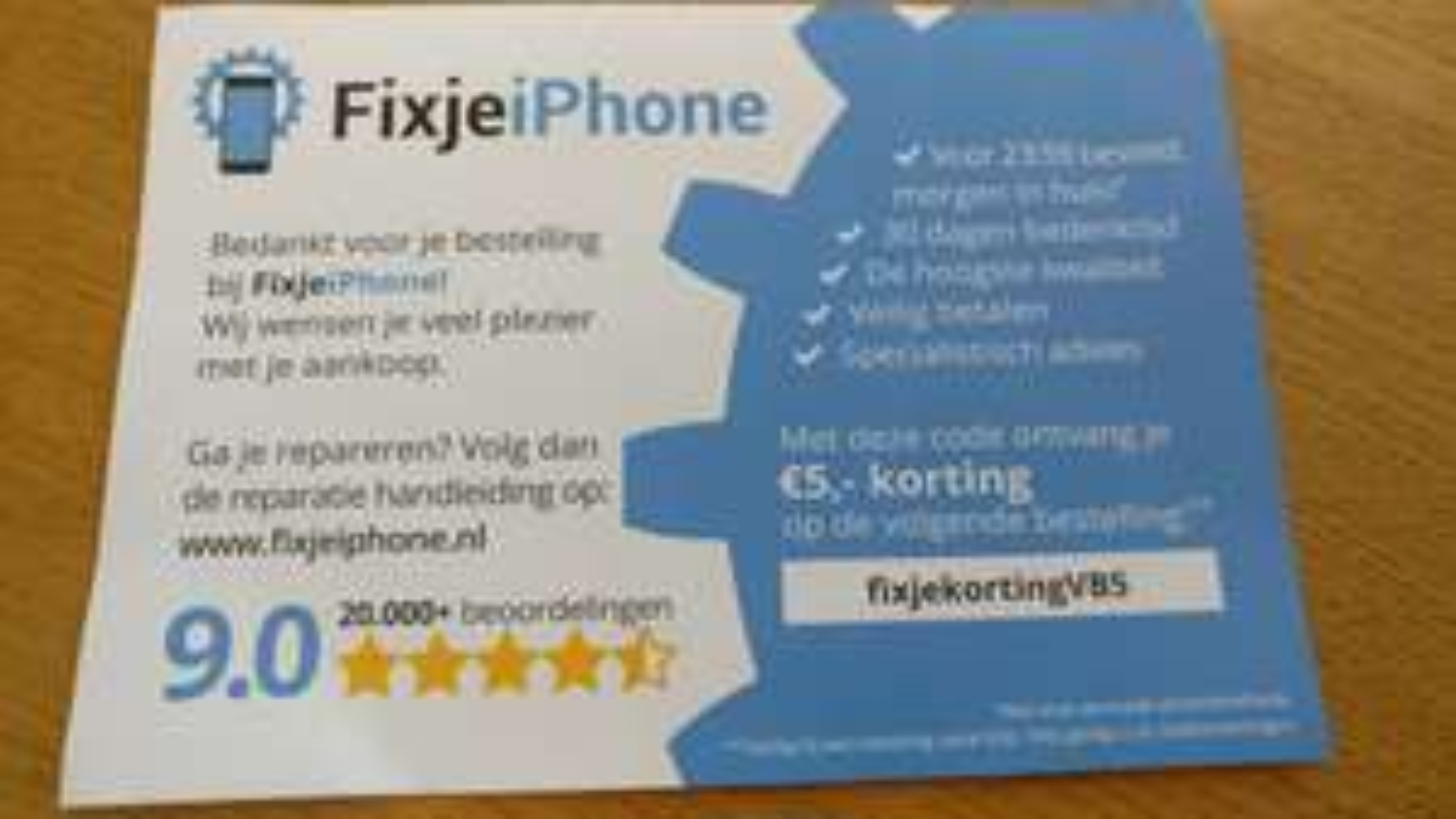 Fixjeiphone.nl 5 euro korting
