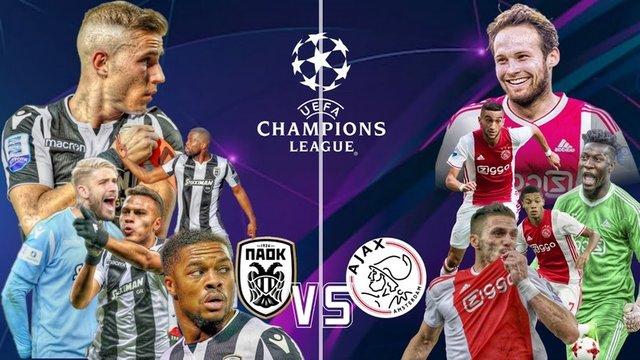 Heel Nederland kijkt gratis PAOK - Ajax en Ajax - PAOK