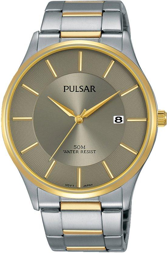 Pulsar PS9544X1 horloge heren - zilver en goud - edelstaal