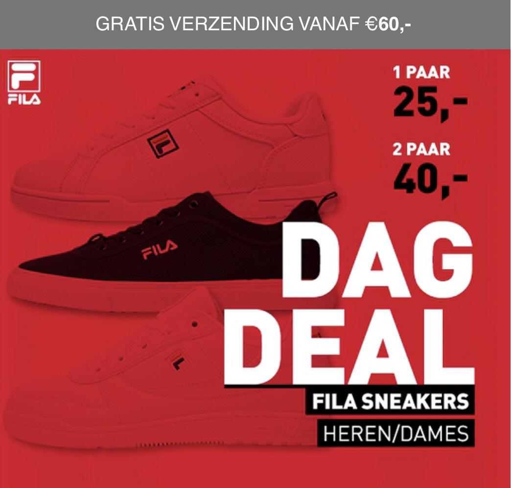 Dagdeal: 2 paar FILA sneakers voor 40,-