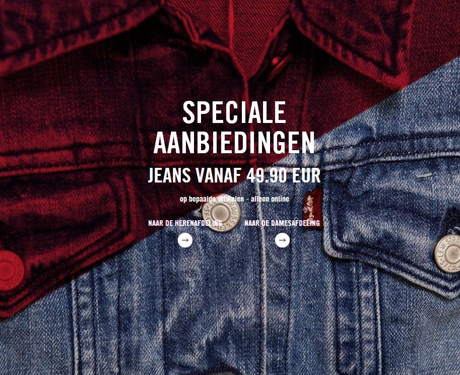 Sale + kortingscode voor € 30 extra korting vanaf € 130 @ Levi´s