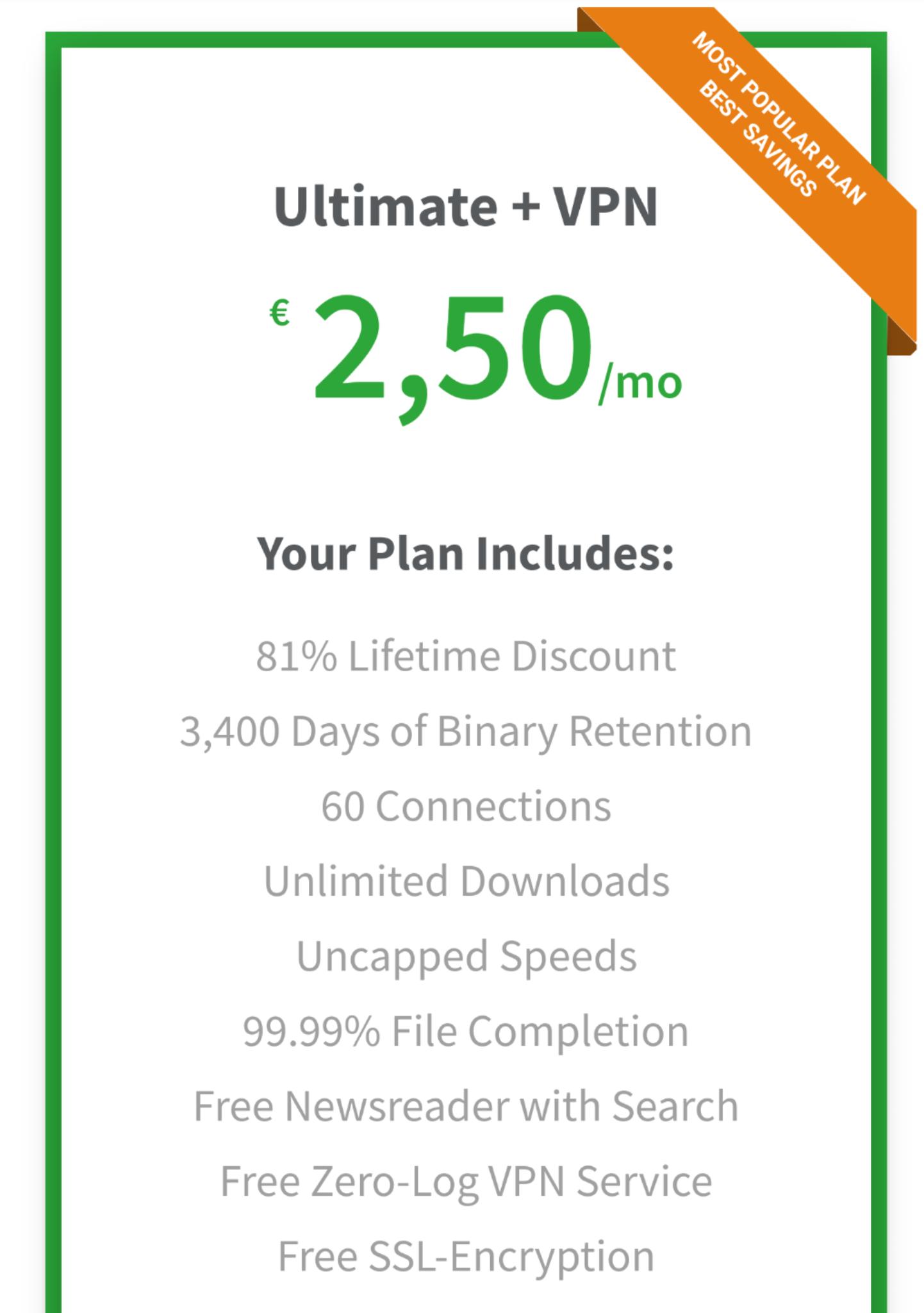 Tweaknews 2,50 per maand incl. VPN