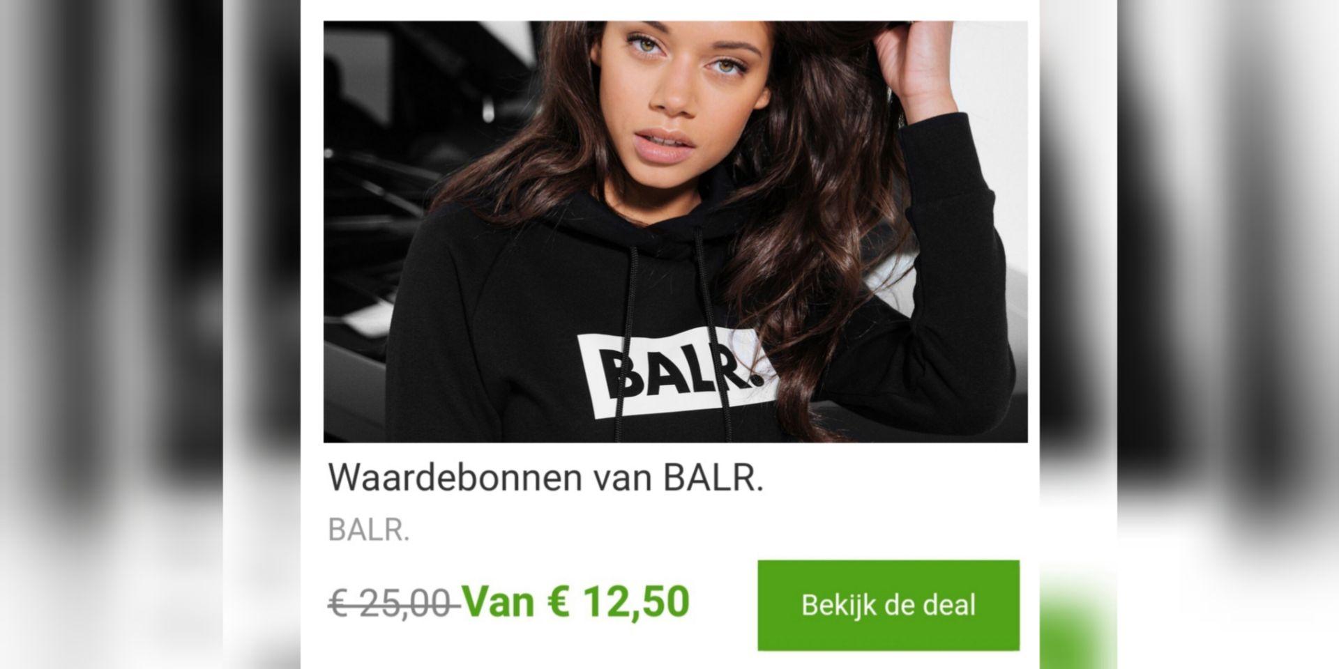 -50% korting op waardebonnen @BALR