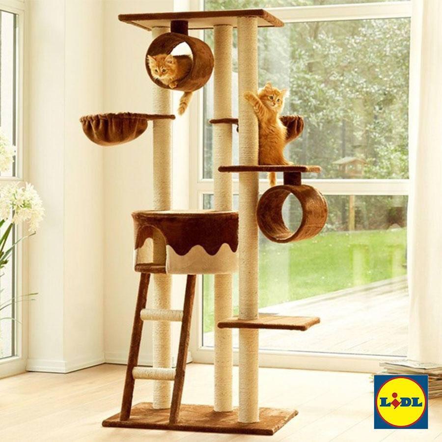 Krabpaal/toren voor je kat op Kattendag [Lidl]
