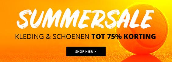 10% extra korting op schoenen en kleding (ook op sale) bij Tennisdirect.nl