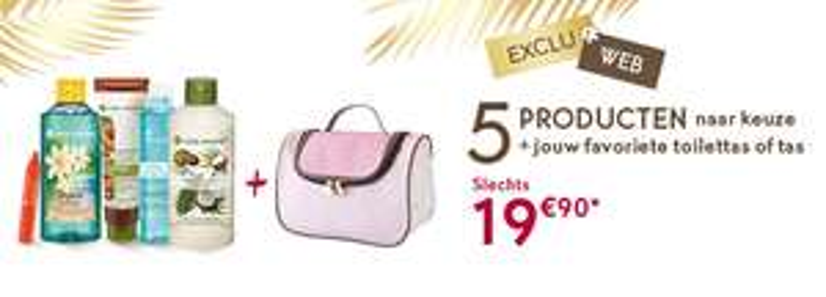 Yves rocher Belgie(ook Nederland) 5 producten voor 19,90+gratis tas+extra geschenk
