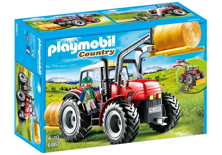 Playmobil Grote rode tractor met werktuigen (6867) @Amazon.de
