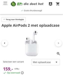 Apple AirPods 2 (2019) met oplaadcase