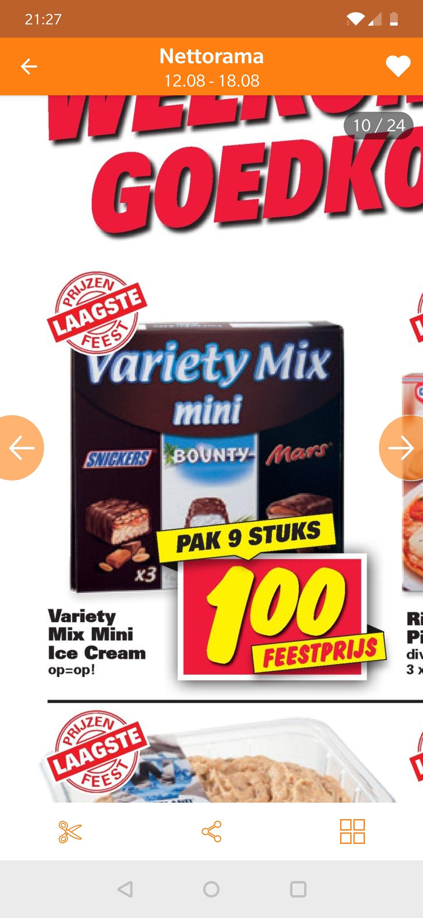 Nettorama ijs deal snickers, mars bounty