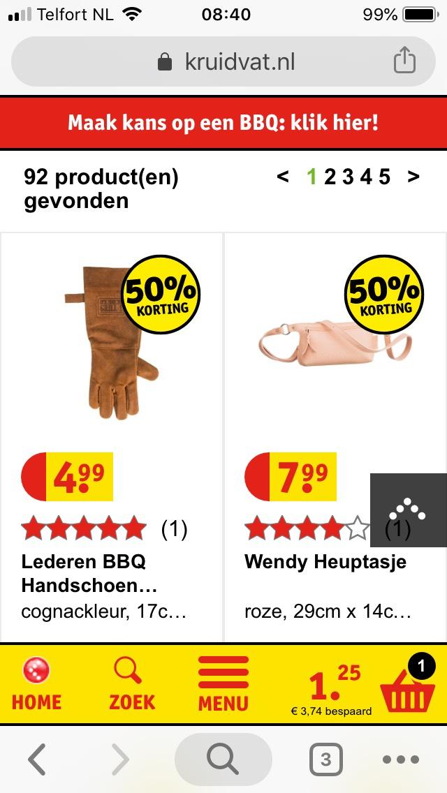Leren BBQ handschoen  voor 1,25€