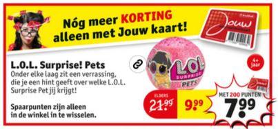 L.O.L. Surprise Pets bal (met 200 pnt €7,99) @ Kruidvat