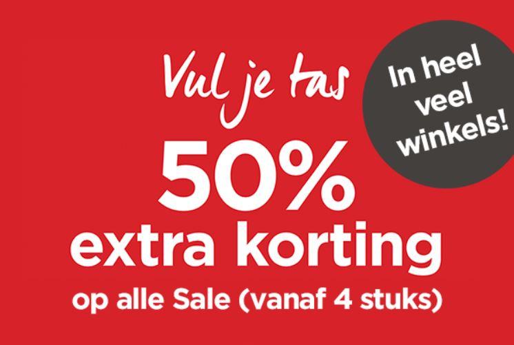 Actie: 50% extra korting op sale (instore - va 4 items) @ Miss Etam