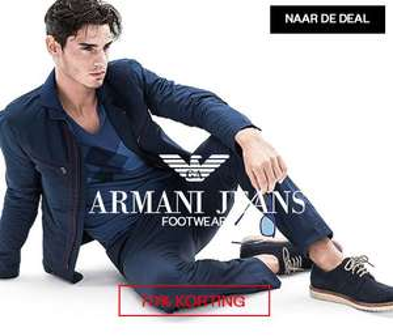 Armani Jeans herenschoenen -70% @ Maison Lab