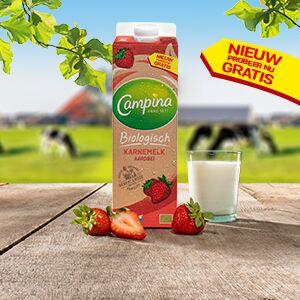 Eurosparen gratis Campina Biologisch karnemelk aardbei (@Jumbo) Na 29/09 ook elders