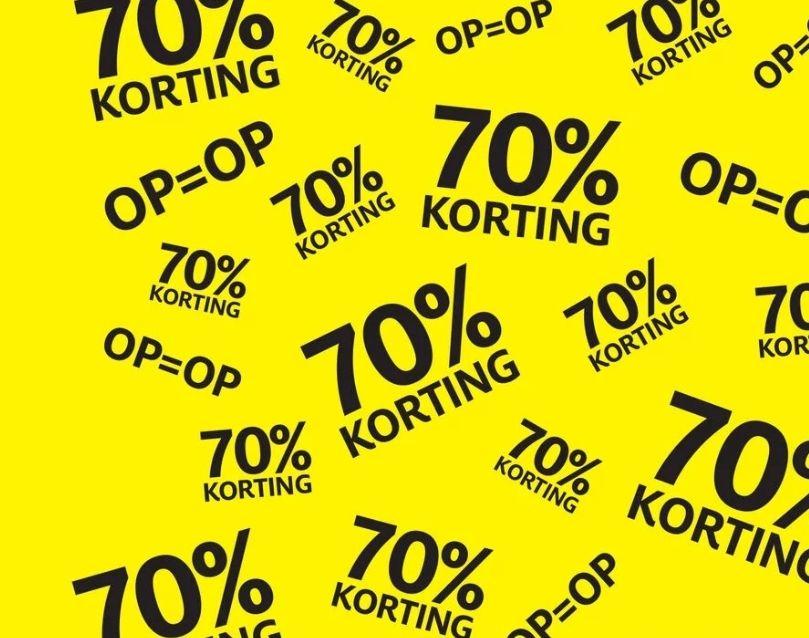 Uitverkoop bij Etos 70%