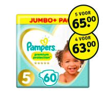 Pampers Premium Protection maat 1 tm maat 5