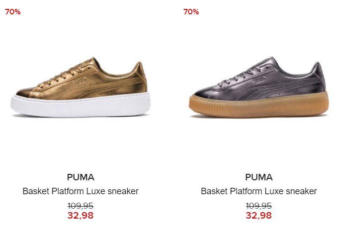 Puma Basket Platform Luxe Sneaker -70% @ Hudson's Bay