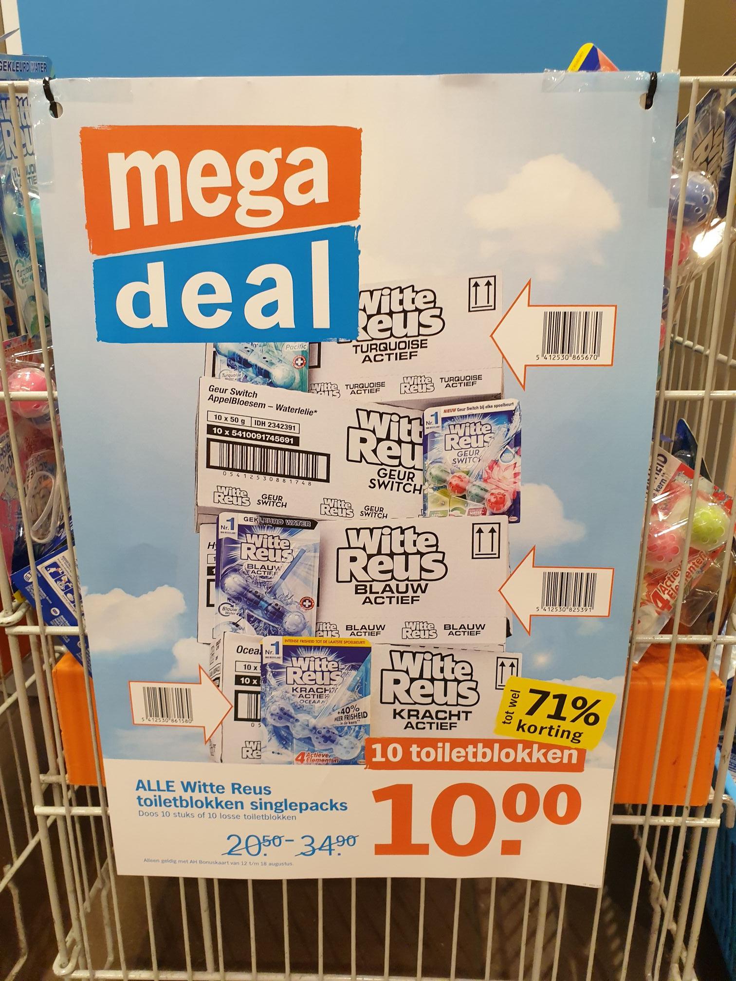 10 witte reus toiletblokken voor 10 euro