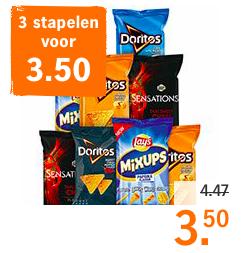 Doritos 185 gram en Lay's Sensations en MixupsAlle varianten, combineren mogelijk