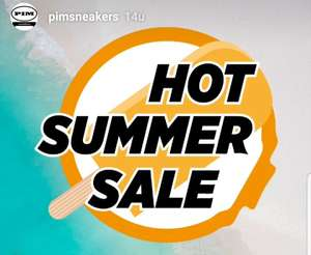 Hot Summer Sale (50%) bij Pim Sneakers