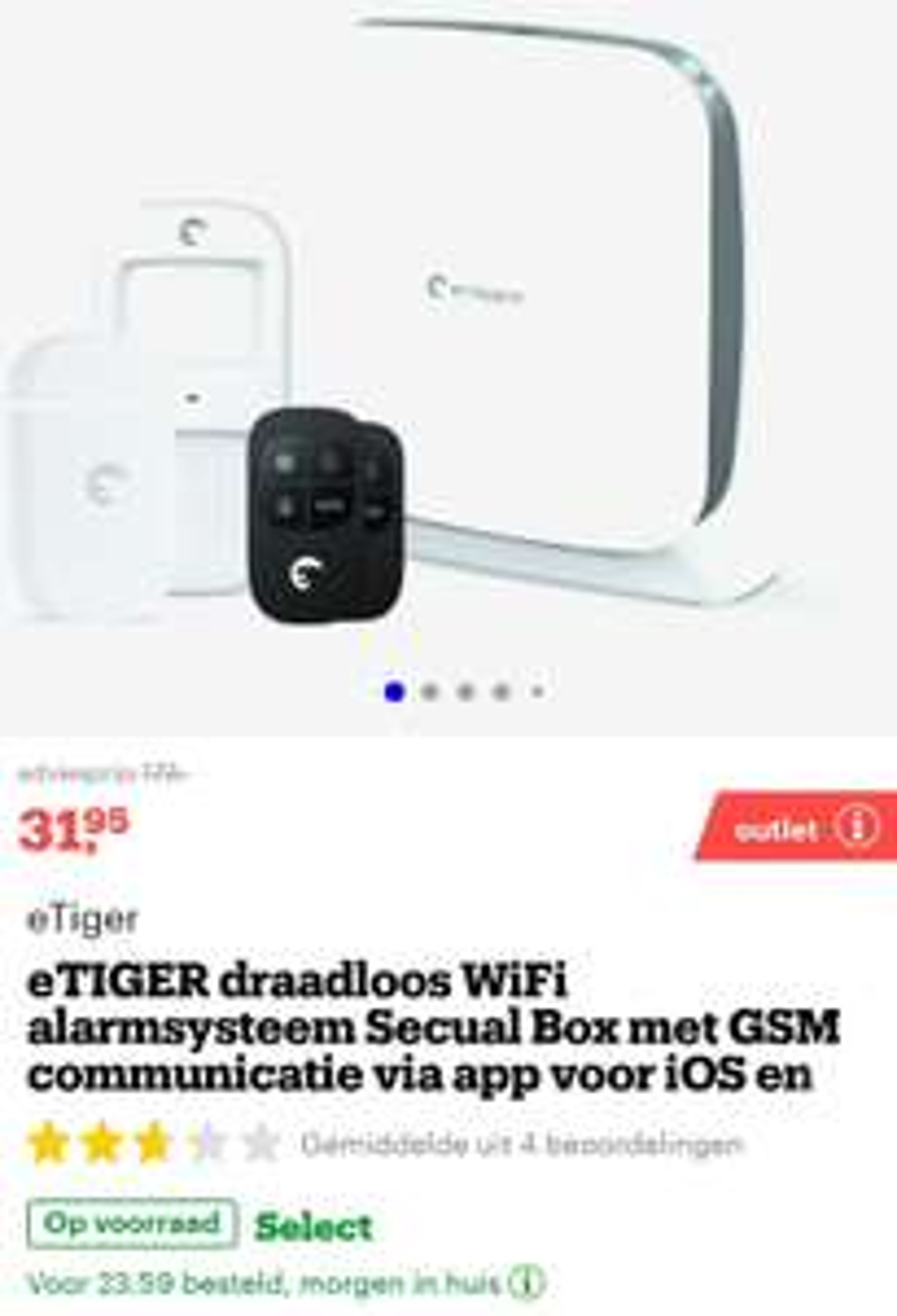 ETIGER  WiFi draadloze alarmsysteem @bol.com