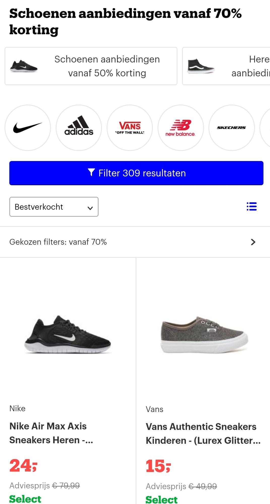 Laatste maatjes schoenen -70% @bol.com
