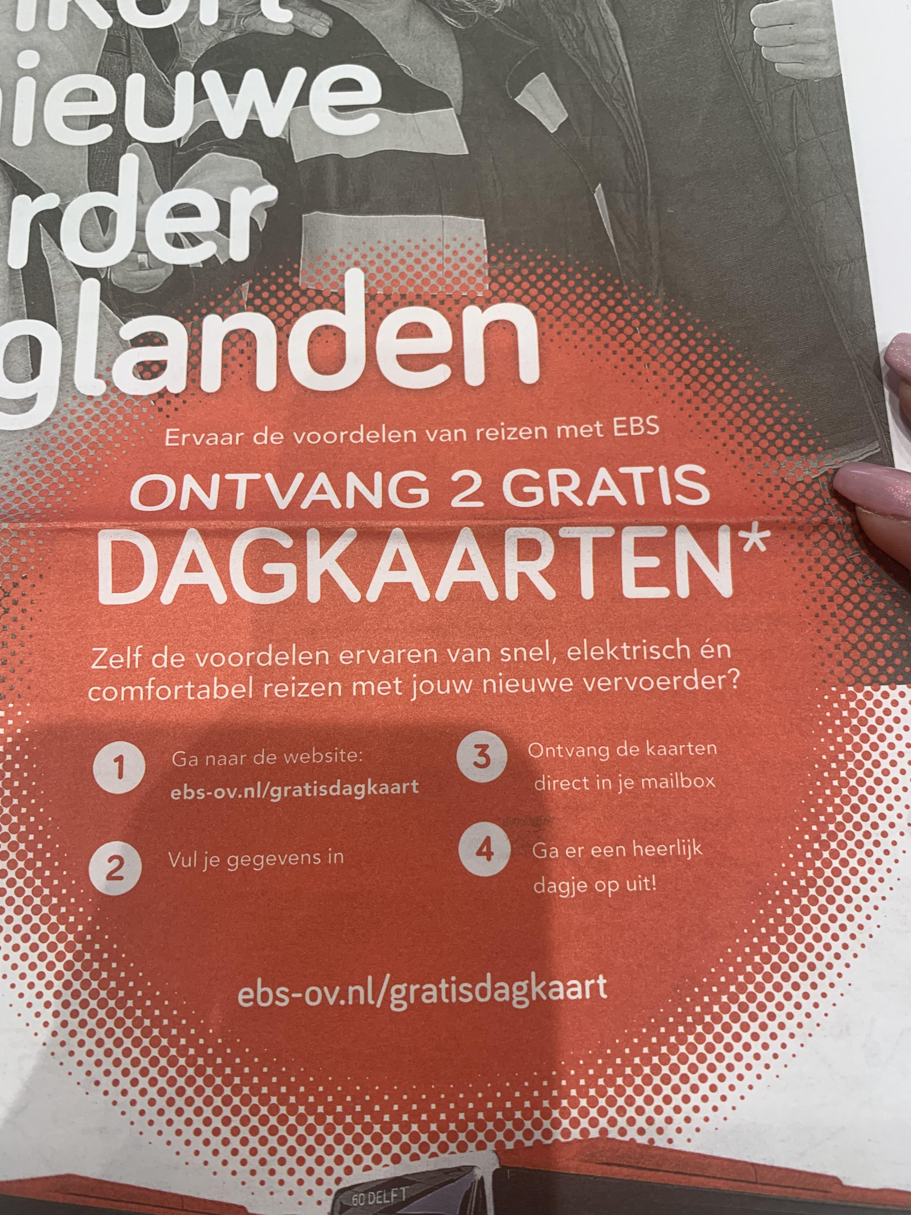 GRATIS 2 bus dagkaarten Haaglanden