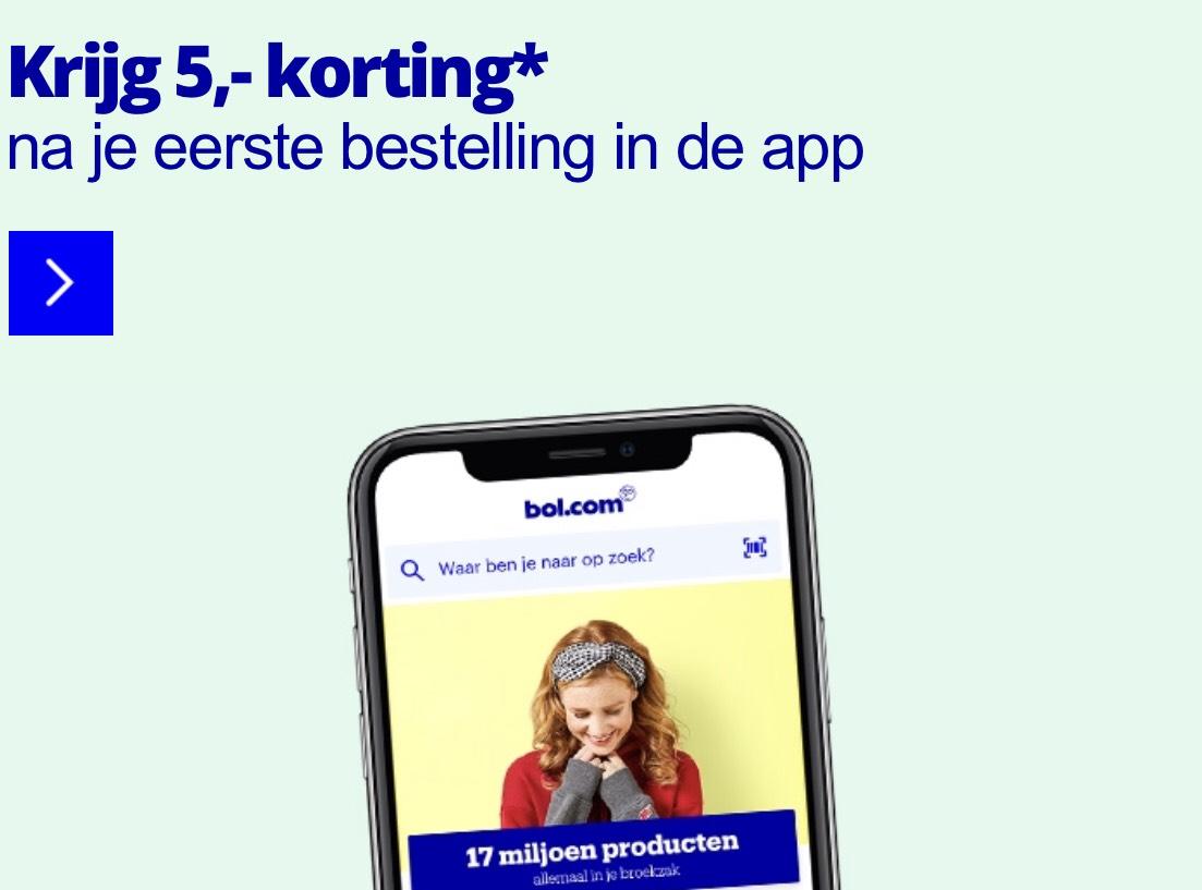 5,- korting? Ontdek de bol.com app