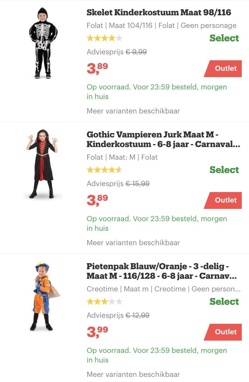 Zwarte Piet pak en andere verkleedkleding voor kinderen