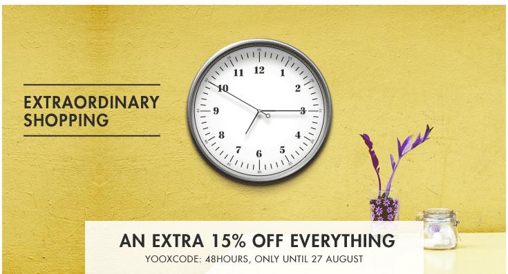 15% EXTRA korting op designer sale + GRATIS verzending @ Yoox