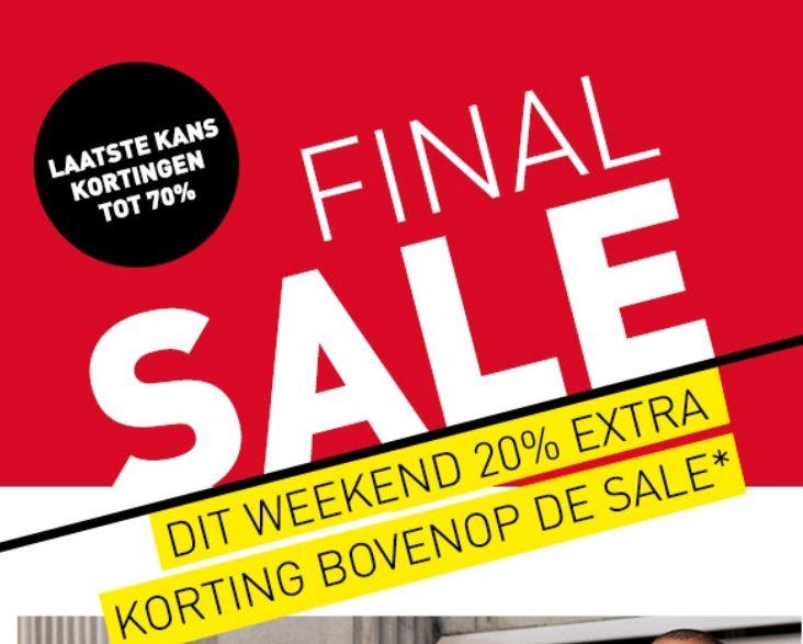 Dit weekend 20% EXTRA korting op sale @ Perry Sport