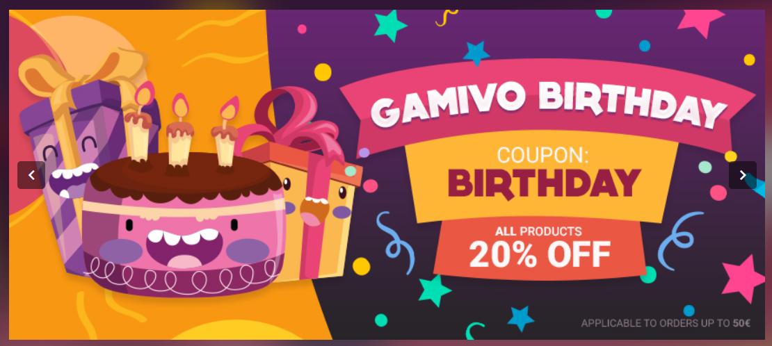 20% korting op alle games Gamivo