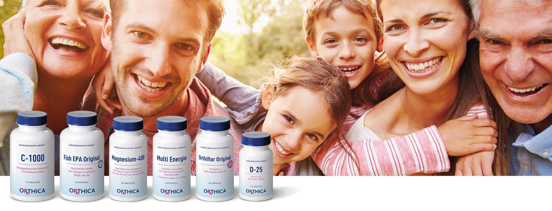 Orthica voedingssupplementen met 35% korting