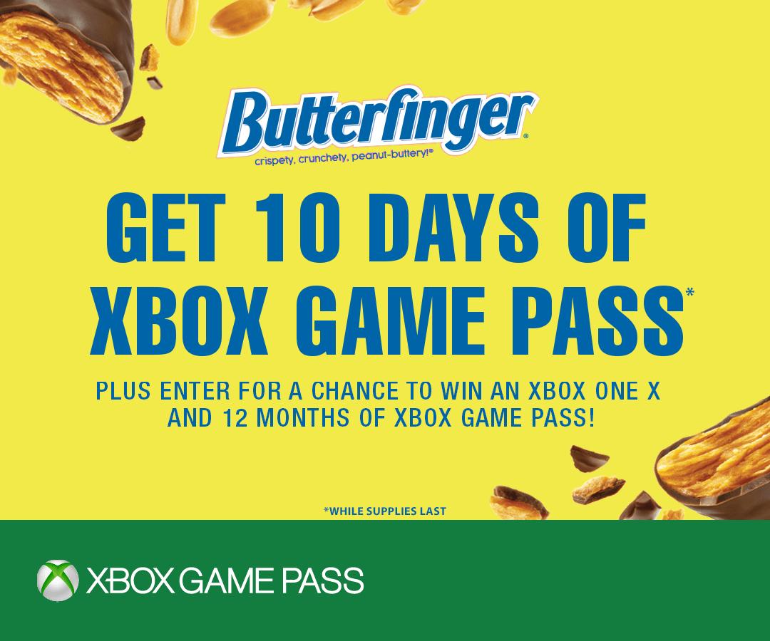 10 dagen Xbox Game Pass gratis @ Butterfinger