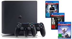 Playstation 4 Slim 1TB + 2 Controllers + 3 games