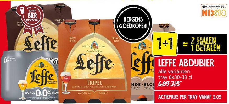 Leffe abdijbier 6 stuks 1 + 1 gratis @Jan Linders