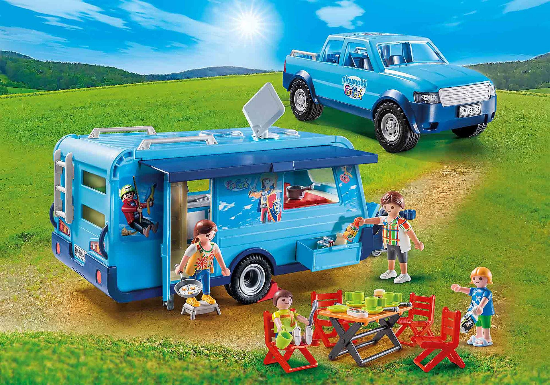 Playmobil auto met caravan (Funpark editie), bij bestelling vanaf 30 euro nog 15% korting via nieuwsbrief.