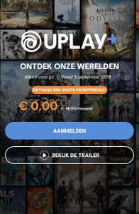 Ubisoft Uplay Plus - maand gratis gamen!