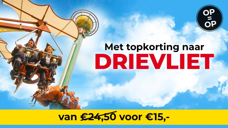 Drievliet tickets met € 10 korting