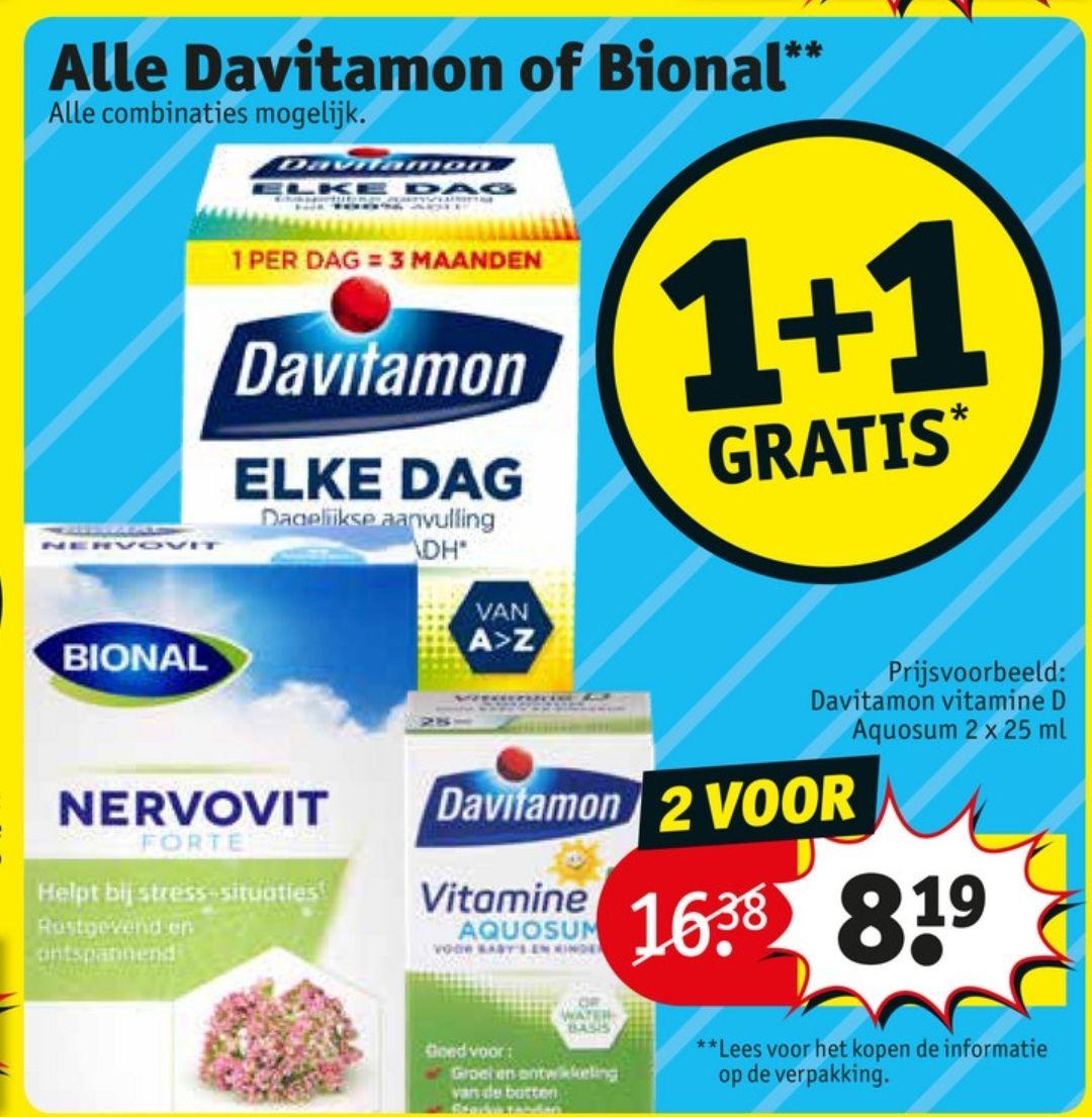 Alle Davitamon of Biomal 1+1 bij Kruidvat.