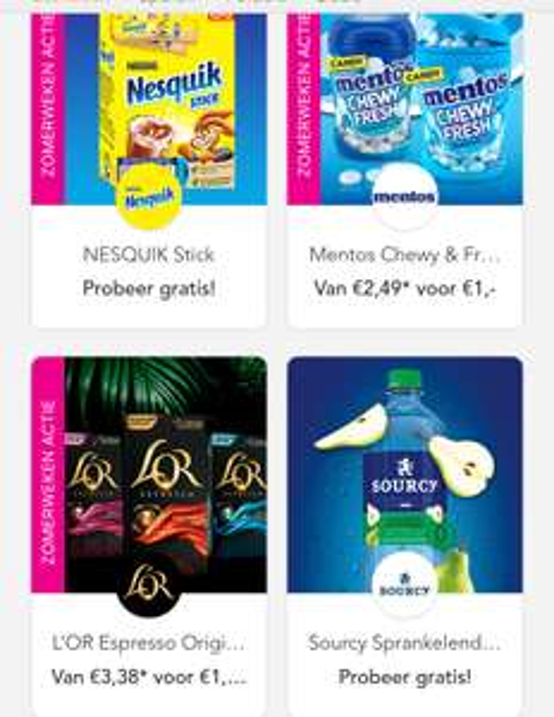 Scoupy cashback: gratis Sourcy, gratis Nesquick, Babybel snack €0,50