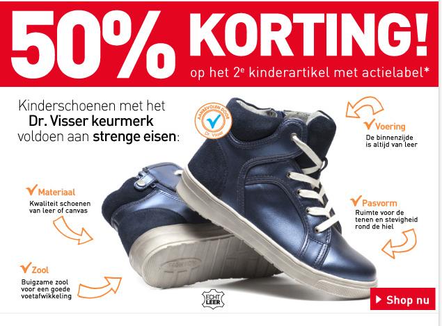 2e paar Dr Visser kinderschoenen 50% korting @Scapino
