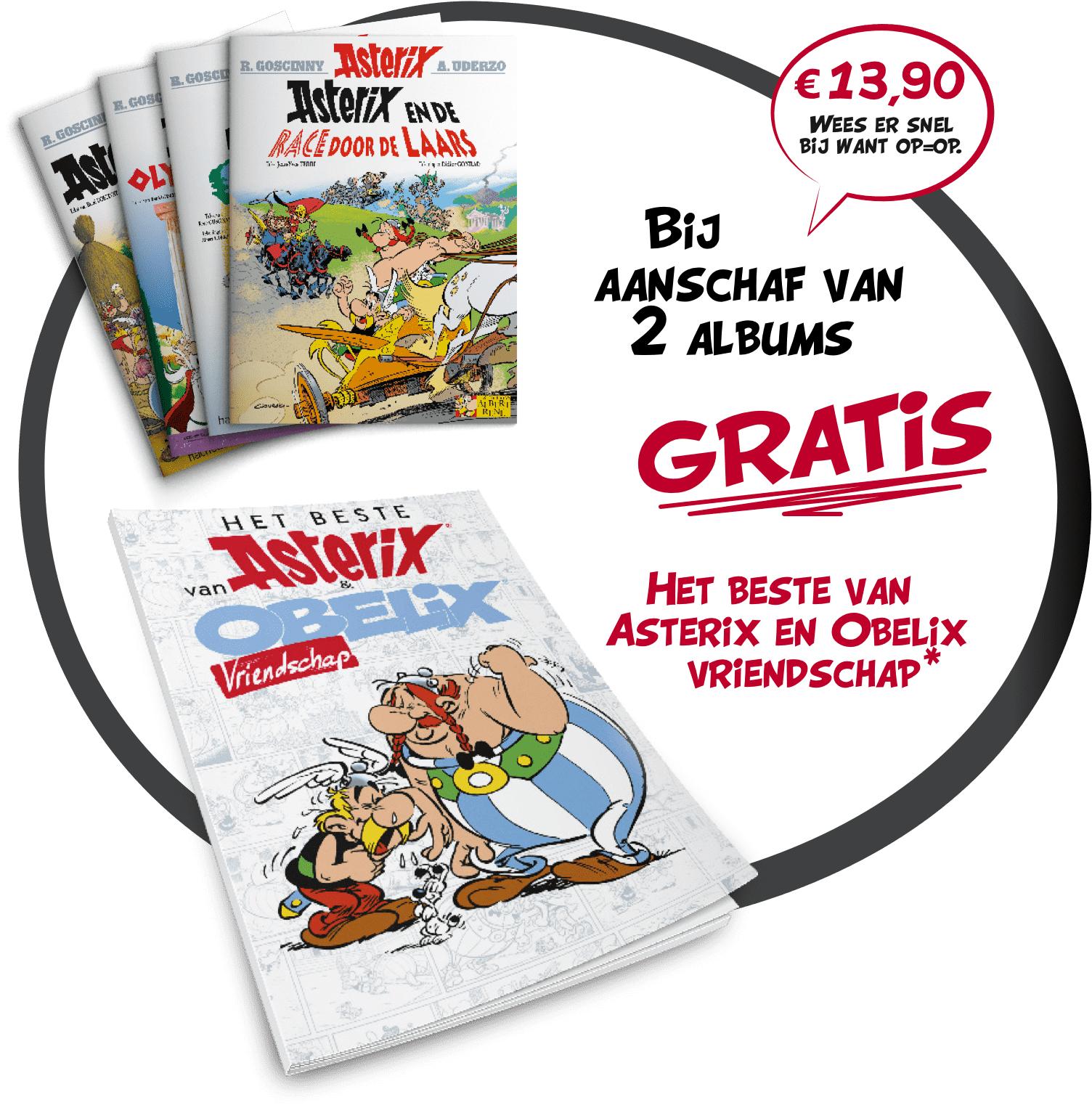 """""""Gratis"""" Asterix stripboek bij aankoop van 2 albums"""