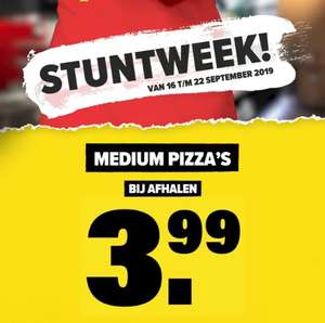 Stuntweek bij Domino's pizza (16 t/m 22 september)