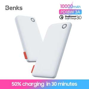 BENKS QC PD 3.0 10000mAH Powerbank ondersteunt fastcharge voor iPhone en Android telefoons @AliExpress