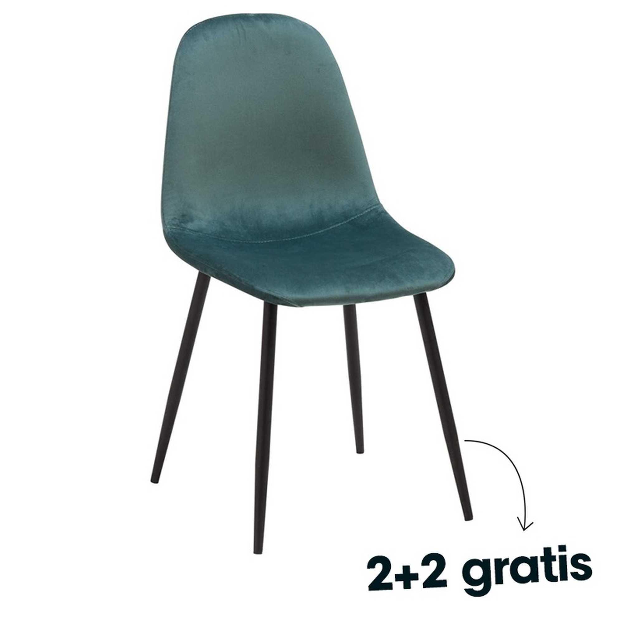 2+2 gratis - stoel Napoli - verschillende kleuren